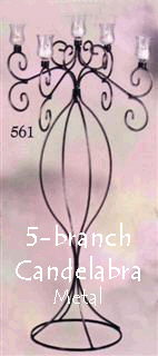 Where to find METAL 5-BRANCH CANDELABRA in Ada